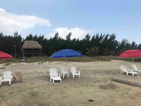 Villa Grand Palapa Casa 🏠frente al Mar 10 persona