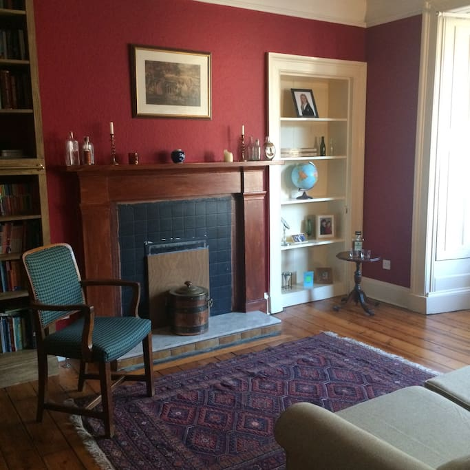 Turn our library to a delightful sitting room when bed not in use.