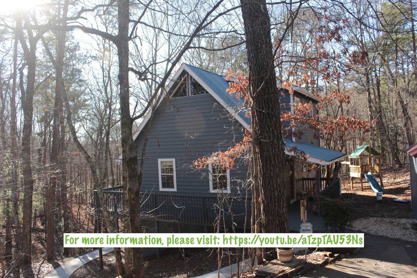 Welcome to the Grindle Bridge Cabin - A perfect place nestled in the woods, yet close to amazing places to visit:  Dahlonega, Cleveland, and Helen! For more info, please copy and paste the link on this picture!