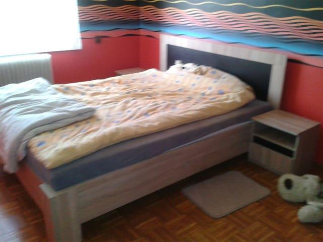 Spacious double bedroom in Jeziora Wielkie
