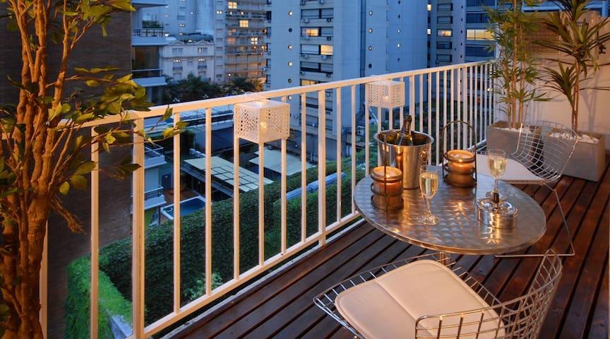 Beautiful big balcony to take in all of Recoleta.