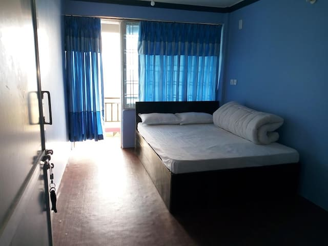Double Room with attached bathroom and balcony.
