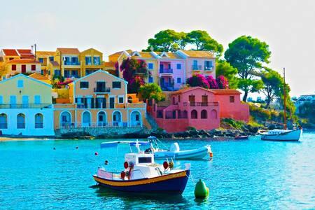 Kefalonia Island Argostoli FLATS + Pool Sleeps 2 - Argostolion - Apartemen