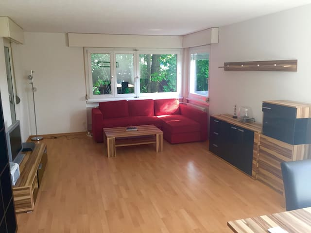 Bedroom in comfortable apartment, 10 mins from HSG