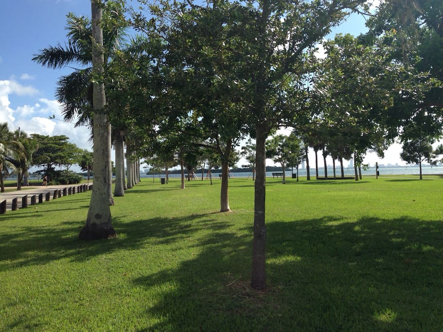 Park with view and access to the Biscayne Bay