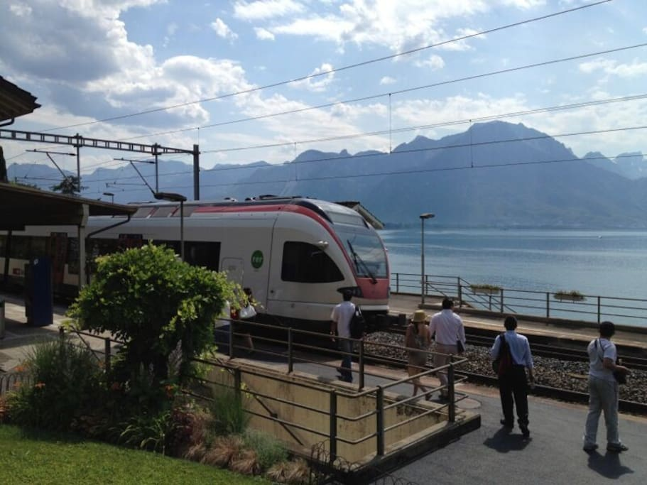 Veytaux-Chillon Gare regional Train, just a few steps away from the property.