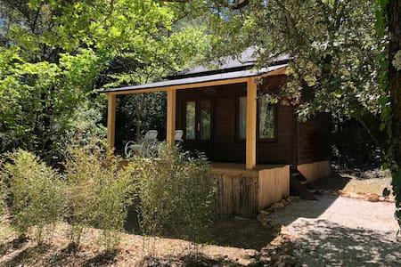 Beautiful cabin in villa with swimming pool