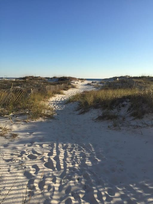 Short walk to the beach