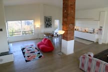 Living room in Balla + Kitchen on the upper floor