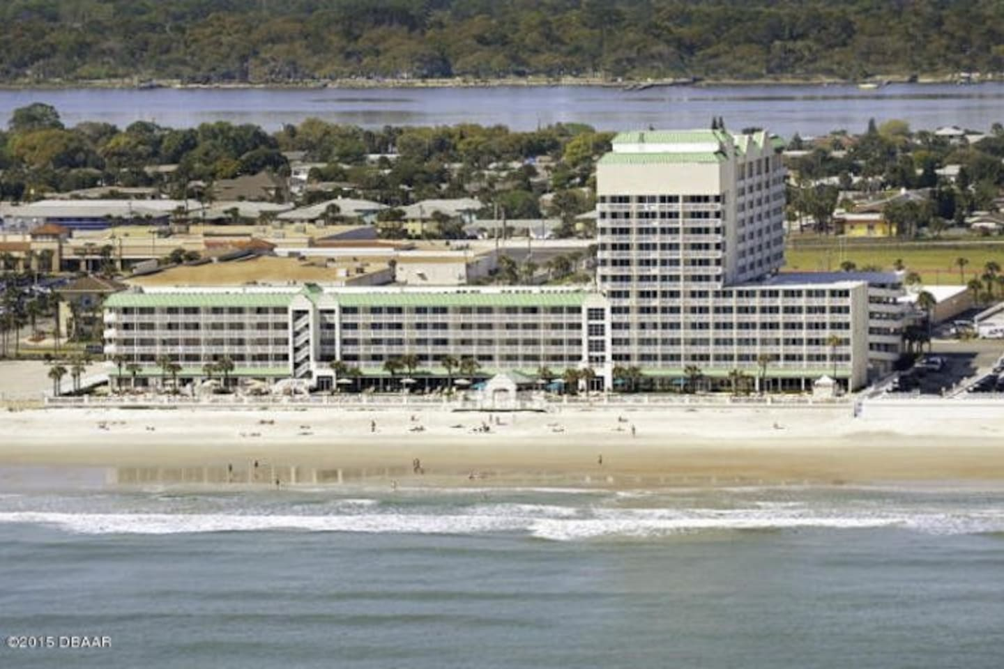 View of Resort from beach.  1109 near top of the tower, facing south.