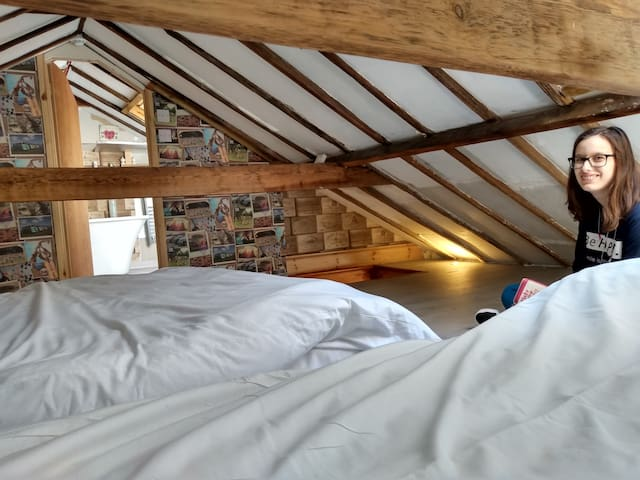 Amazing private attic room with ensuite bathroom