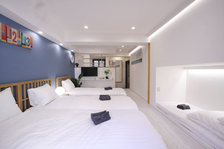 B# 23★4 Beds/Shinjuku Kabukicho/Free wifi/Big Sale