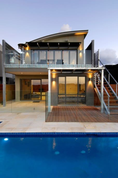 Solar heated private pool