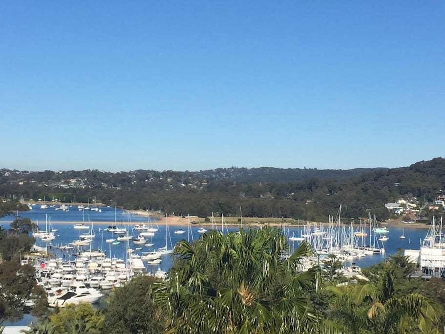 Views across Pittwater, to Bayview