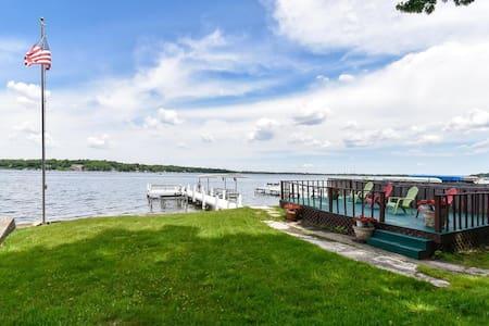 WATERFRONT- DELAVAN LAKE-PIER-BEST SUNSETS-FISHING