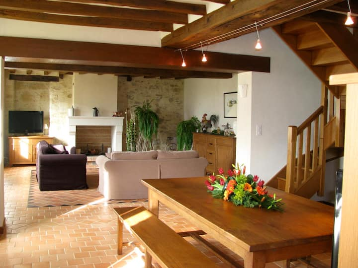 THE FARM *****  3 bedrooms 8 people heated pool