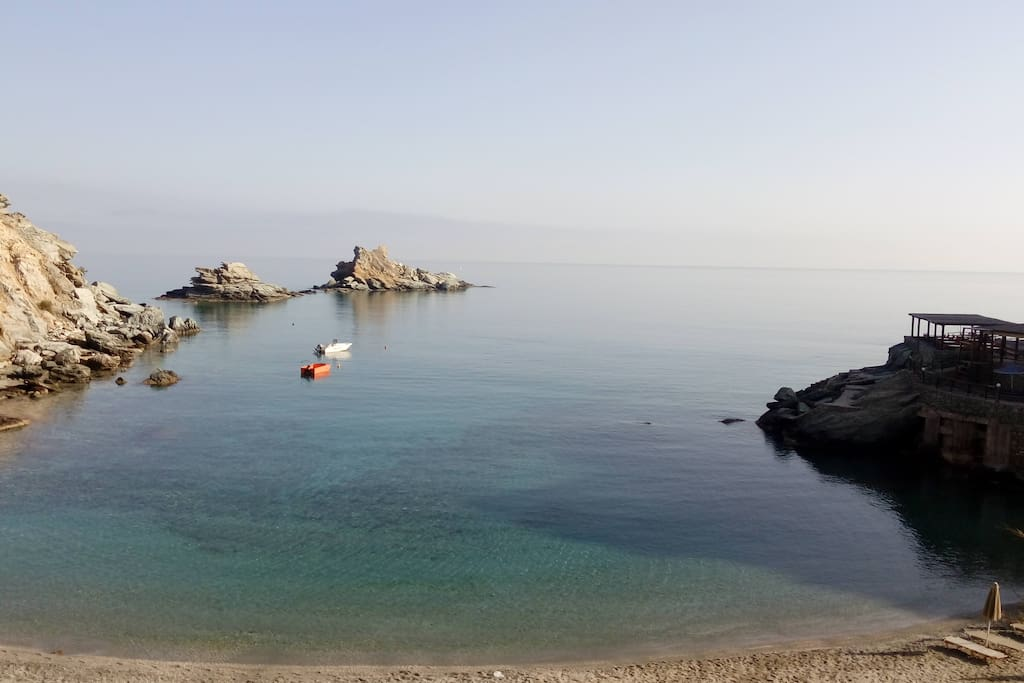 The peaceful sea from MADES... you can explore by swimming with your mask !!!