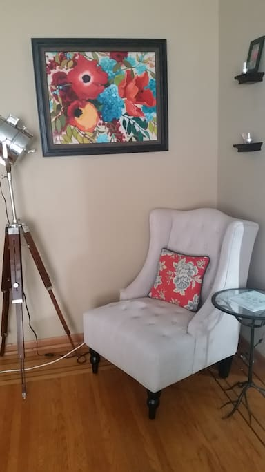 Reading corner in living room
