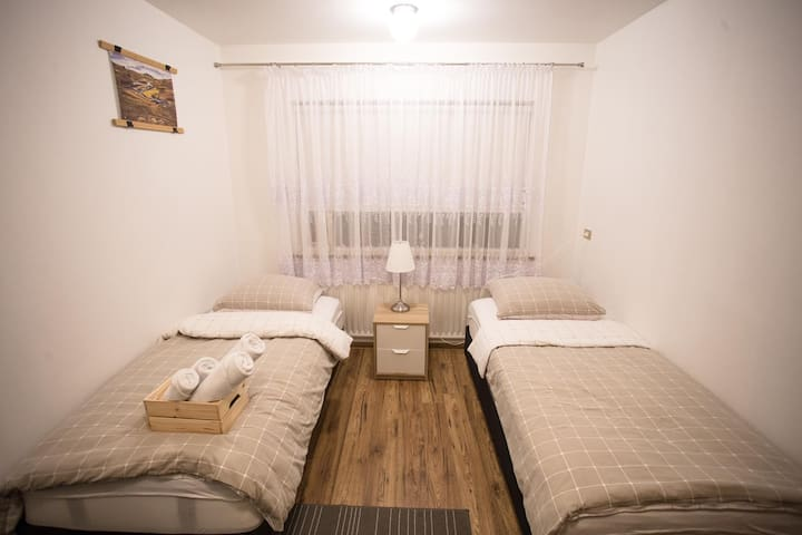 A cosy private room close to the city center