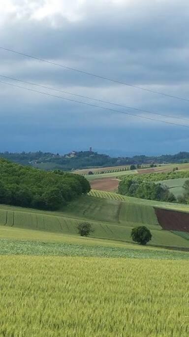 Paesaggio visibile dalla casa