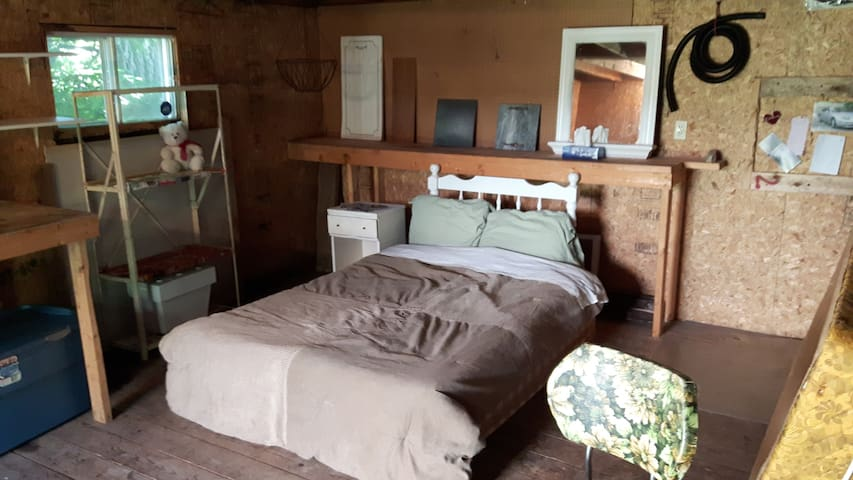 Wanna spend a night in a shed?