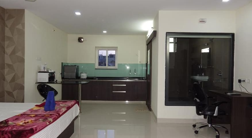 Fully furnished Studio flat of 1 BHK - Hyderabad - Daire