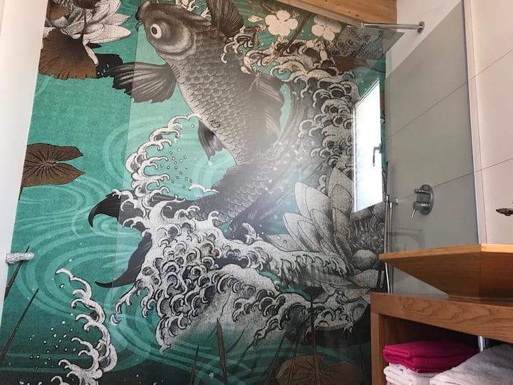 Stylish double room w/ en-suite bathroom in Olbia