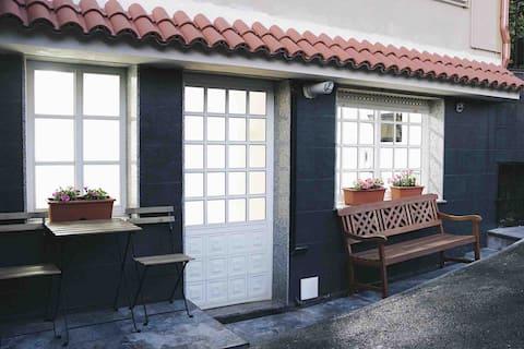 Apartamento entero con jardín y barbacoa privado