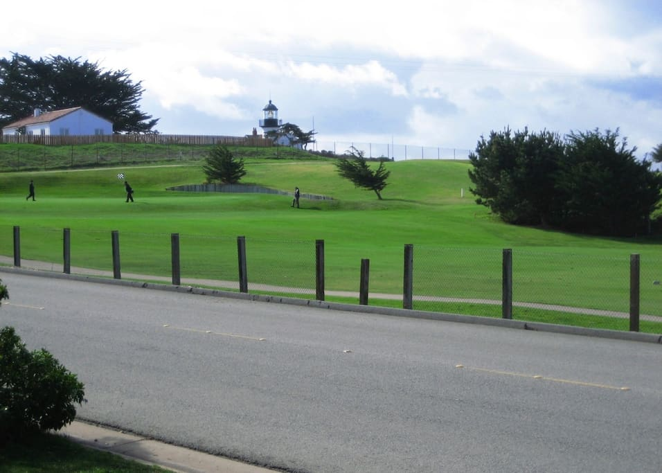 Front Porch view toward 18th Green & Lighthouse