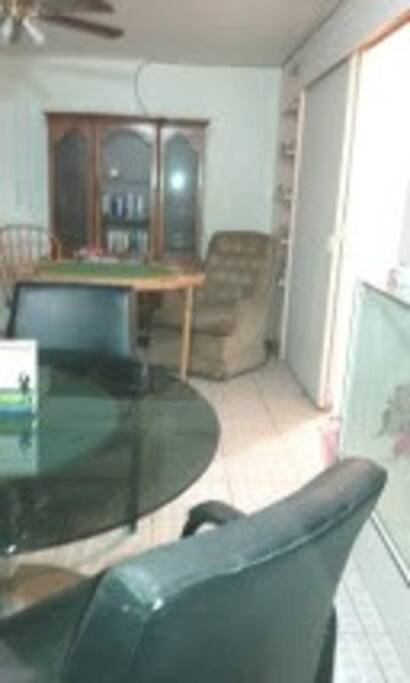 Great Room: Dining Room Table, Game table, Kitchenette off the the right