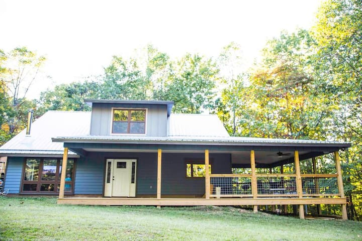 Bloomington Lake-View home on 40 secluded acres