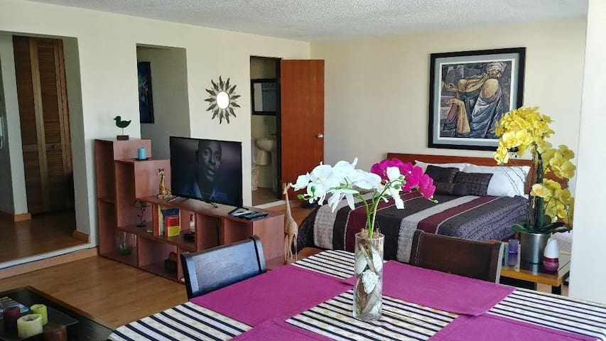 Open floor plan, smart TV and free WiFi.