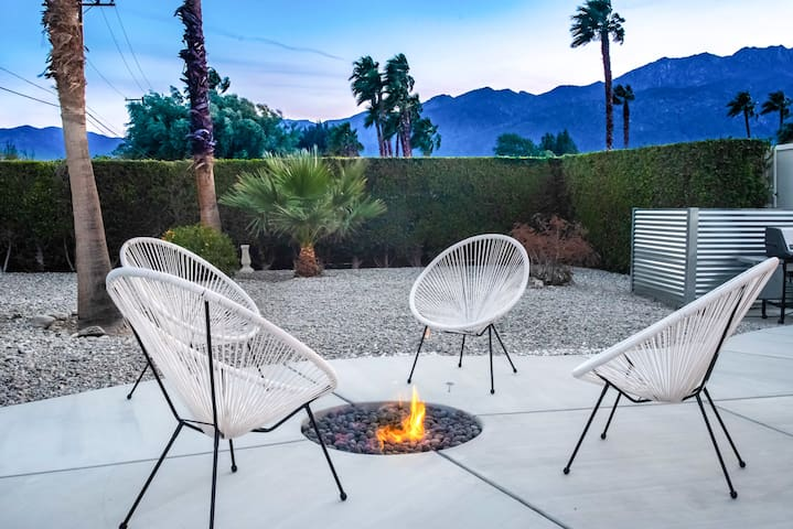 Watch sunsets in the backyard around the fire.