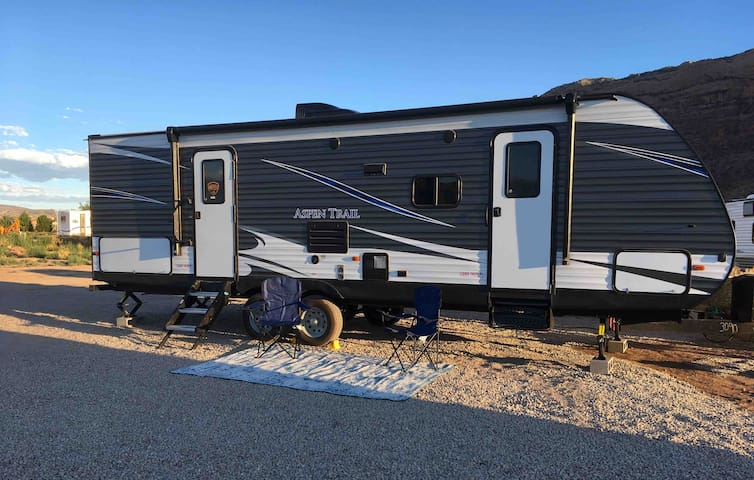 NEW! Fully-loaded RV basecamp! Spacious w/ Views!