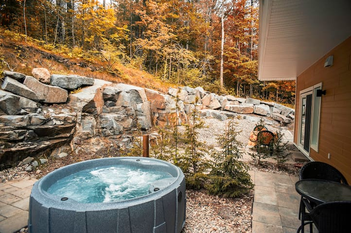 Your private hot tub. You may order one of our BBQs or/and a firepit.