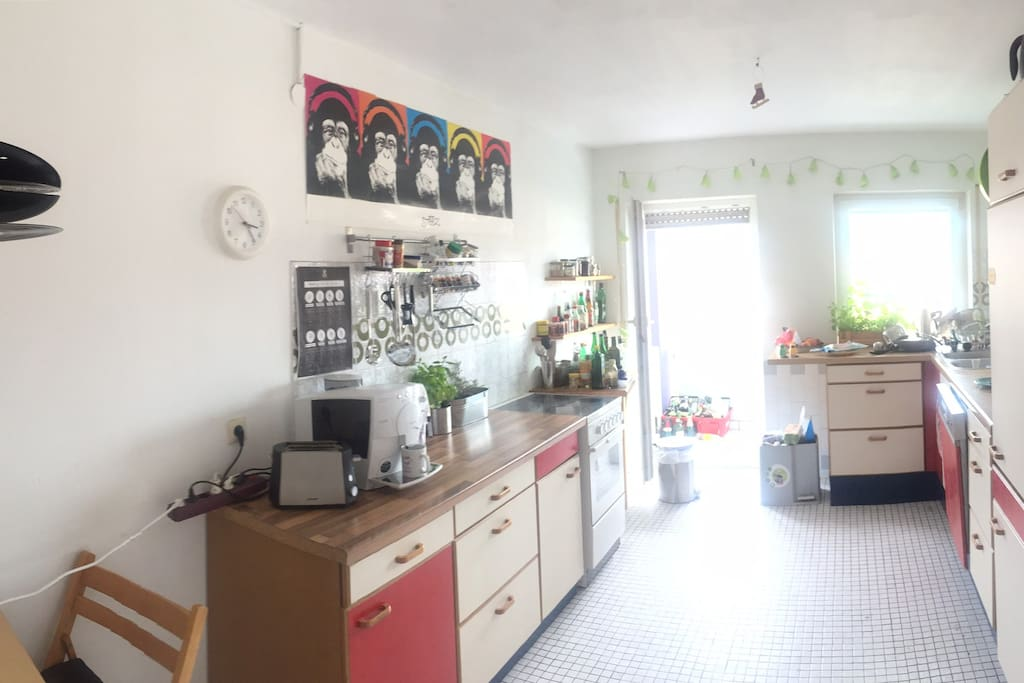 Our nice kitchen with a big balcony
