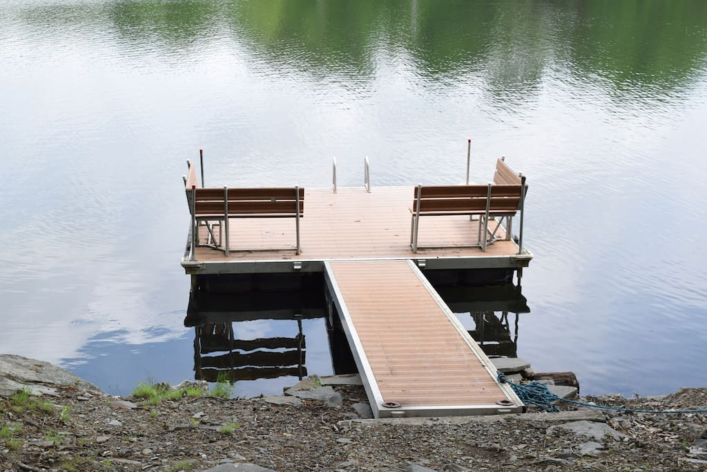 Large Private Dock on property