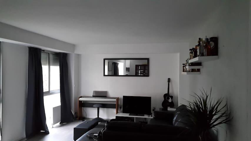 Chambre privée-grand appartement - Le Petit-Quevilly - Condominium