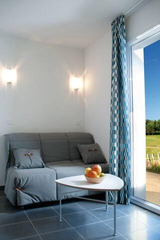 Maison de vacances cosy en bordure du golf de Quéven