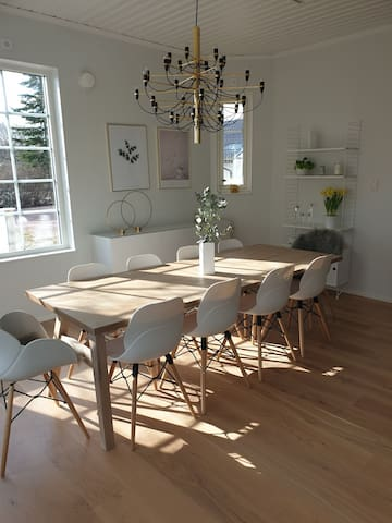 Strandnära hus i Mariehamn