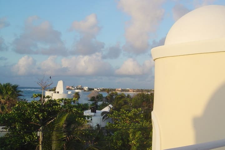 Sunrise from the Rooftop Terrace of Amanecer Akumal
