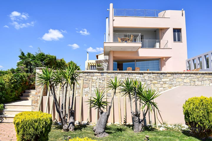 Seafront Villa with private pool near the Airport