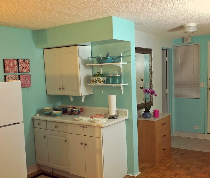 Beautiful Studio, Steps to Waikiki Beach Only $60!