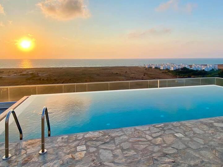 Sea & Mountain Panorama View, North Cyprus