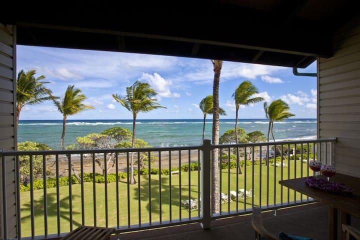 Beautiful Oceanfront 2Bd/2Ba Kapaa Shores Condo