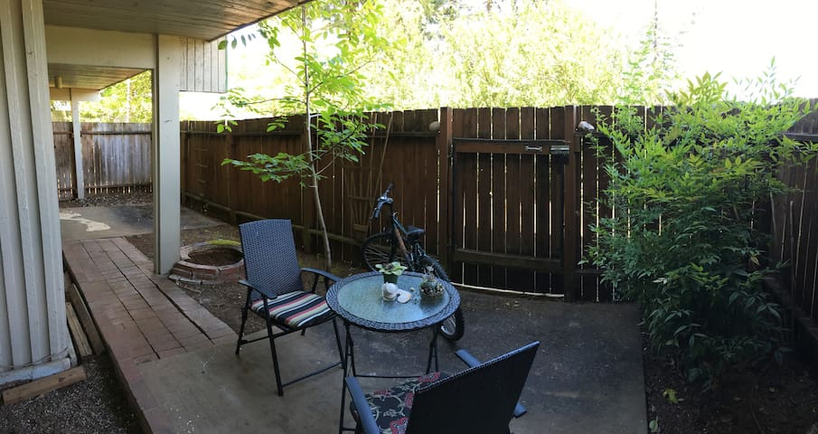 Private back porch for camping during eclipse
