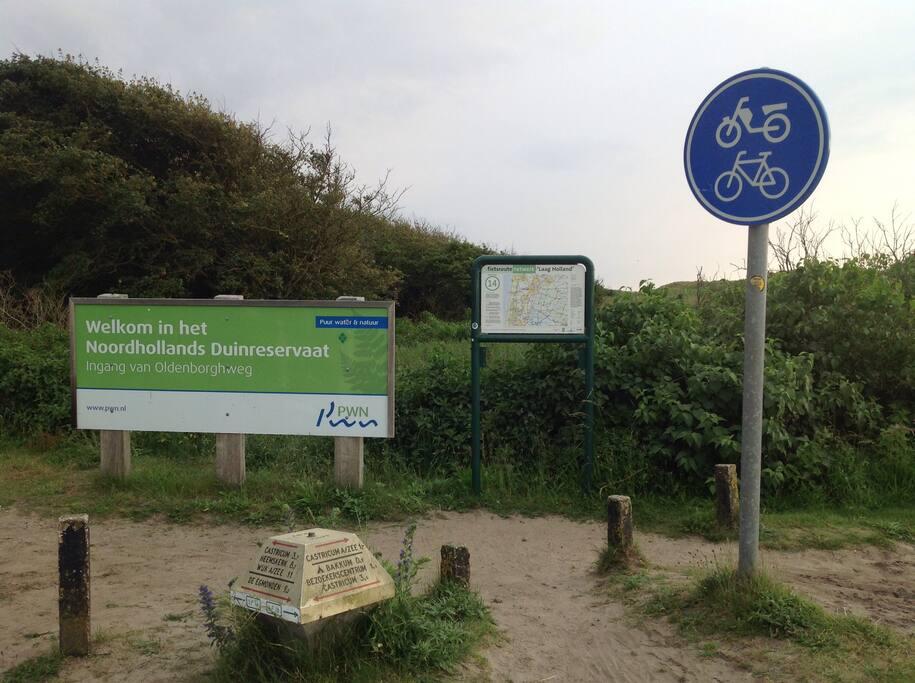 Toegang voor de wandelaar of fietser.