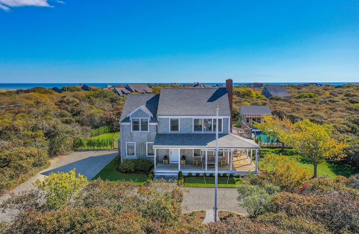 Nantucket sanctuary with heated pool and tennis