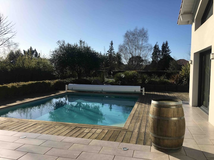 villa moderne Soustons: spa, grand jardin