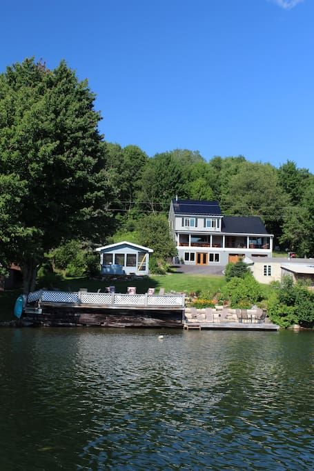 View of Eagles Nest from the water